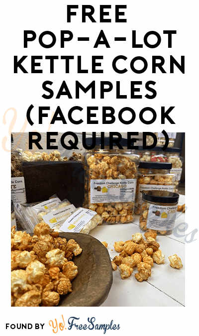 FREE Pop-A-Lot Kettle Corn Samples (Facebook Required)