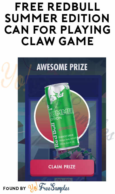 FREE Redbull Summer Edition Can For Playing Claw Game