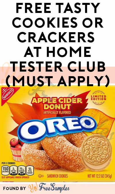 FREE Tasty Cookies or Crackers At Home Tester Club (Must Apply)