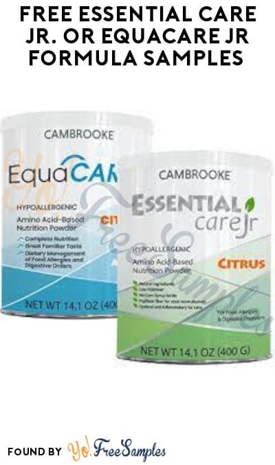 FREE Essential Care Jr. or EquaCare Jr Formula Samples