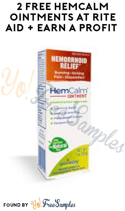 2 FREE HemCalm Ointments at Rite Aid + Earn A Profit (Account, Coupon & Ibotta Required)