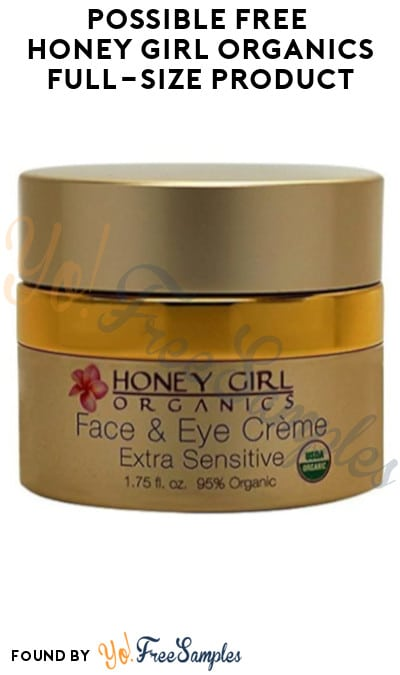 Possible FREE Honey Girl Organics Full-Size Skincare Product (Video Required)