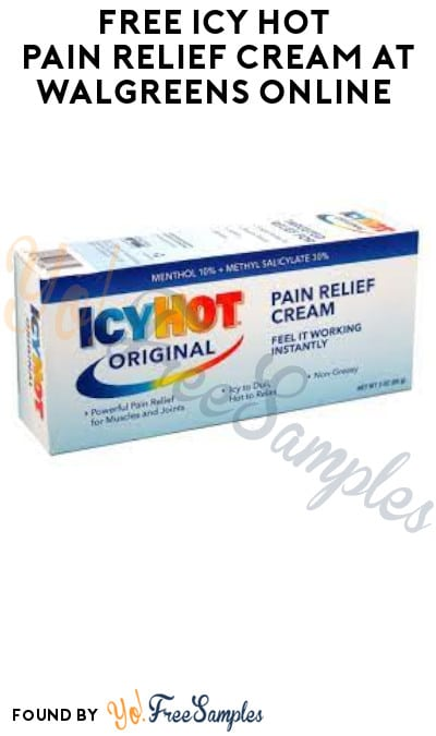 FREE Icy Hot Pain Relief Cream at Walgreens Online (Coupon, Code & Ibotta Required)