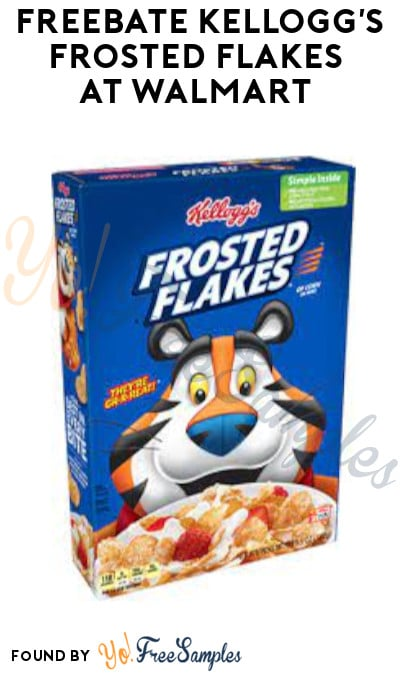 FREEBATE Kellogg's Frosted Flakes at Walmart (Clearance + Ibotta Required)