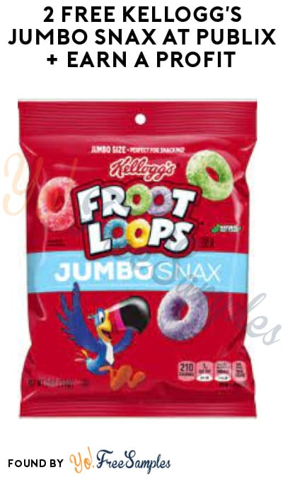 2 FREE Kellogg's Jumbo Snax at Publix + Earn A Profit (KFR Rewards Coupon + Ibotta Required)