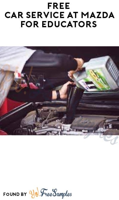 FREE Car Service at Mazda for Educators