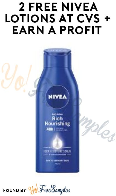 2 FREE Nivea Lotions at CVS + Earn A Profit (Coupon, App & Ibotta Required)