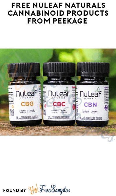 FREE NuLeaf Naturals Cannabinoid Products from Peekage (Ages 21 & Older Only)