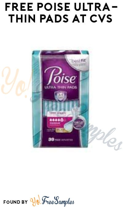 FREE Poise Ultra-Thin Pads at CVS (Account, Coupon & Ibotta Required)