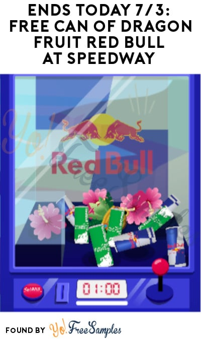 Ends Today 7/3: FREE Can of Dragon Fruit Red Bull at Speedway (Red Bull Account Required)