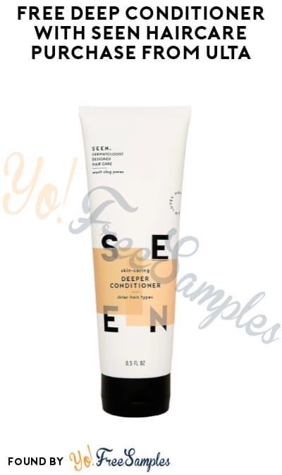 FREE Deep Conditioner with SEEN Haircare Purchase from Ulta (Online Only)