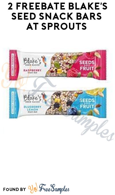 2 FREEBATE Blake's Seed Snack Bars at Sprouts (Ibotta Required)