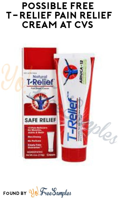 Possible FREE T-Relief Pain Relief Cream at CVS (Ibotta Required)