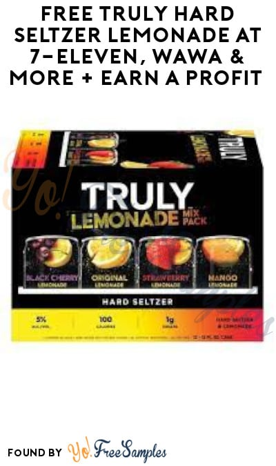 FREE Truly Hard Seltzer Lemonade at 7-Eleven, Wawa & More + Earn A Profit (Ages 21 & Older Only + Swagbucks Required)