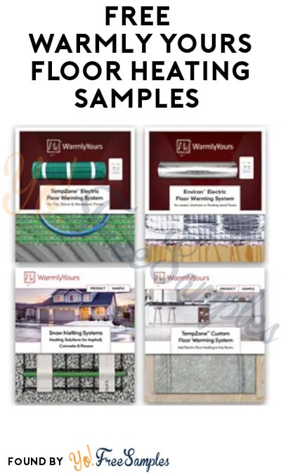 FREE WarmlyYours Floor Heating Samples (Company Name Required)