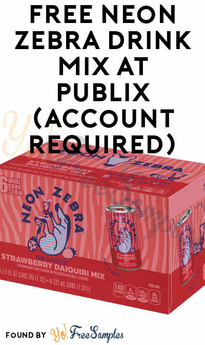 FREE Neon Zebra Drink Mix at Publix (Account Required)