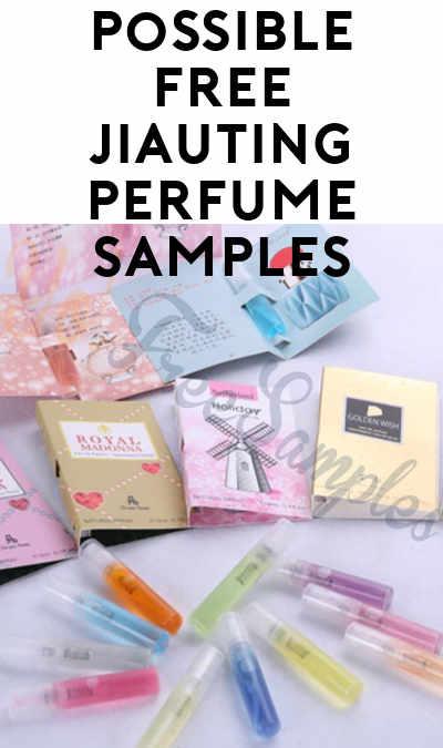 Possible FREE JIAUTING Perfume Samples