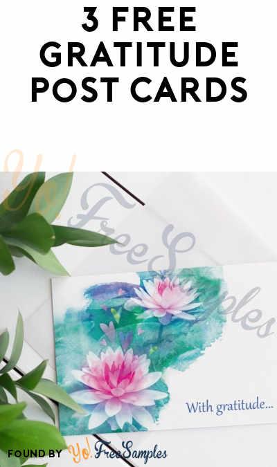 3 FREE Gratitude Post Cards