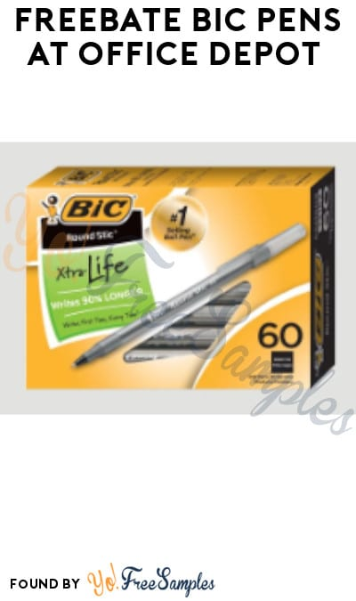 FREEBATE BIC Pens at Office Depot (Rewards Required)