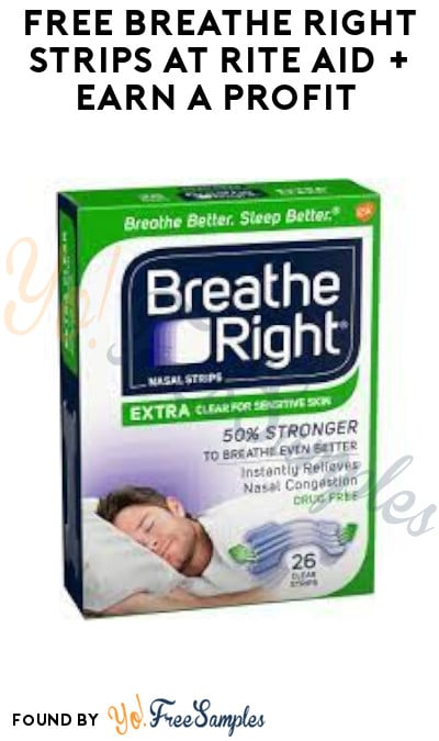 FREE Breathe Right Strips at Rite Aid + Earn A Profit (Coupon & Ibotta Required)