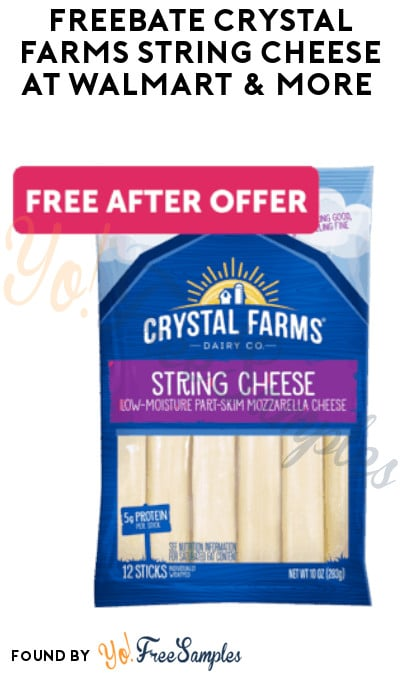 FREEBATE Crystal Farms String Cheese at Walmart & More (Ibotta Required)