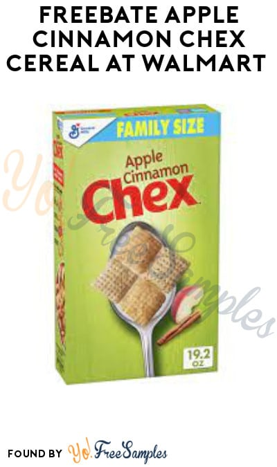 FREEBATE Apple Cinnamon Chex Cereal at Walmart (Ibotta Required)