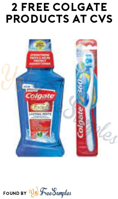 2 FREE Colgate Products at CVS (Coupon + Account/ App Required)