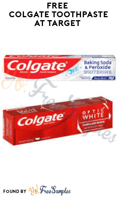 FREE Colgate Toothpaste at Target (Target Circle Required)