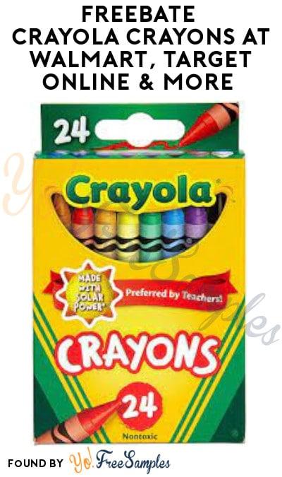 FREEBATE Crayola Crayons at Walmart, Target Online & More (Ibotta Required)