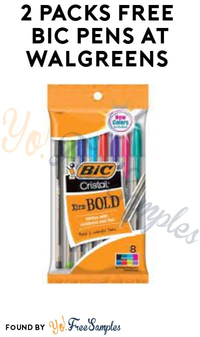2 Packs FREE BIC Pens at Walgreens (Account/ Coupon Required & Online Only)