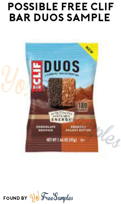 Possible FREE CLIF BAR Duos Sample (Facebook Required)