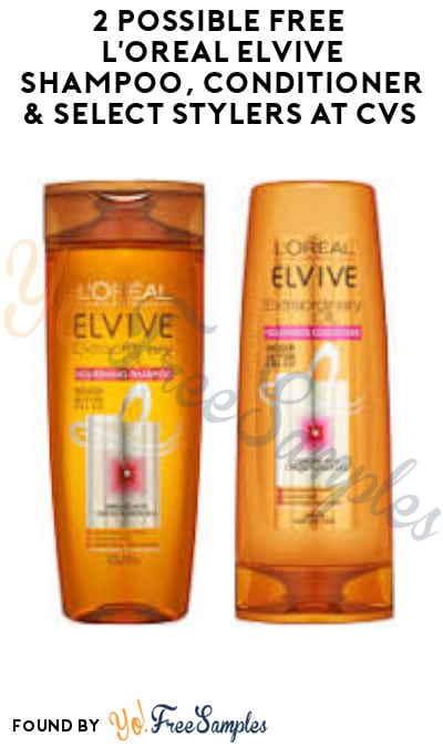 2 Possible FREE L'Oreal Elvive Shampoo, Conditioner & Select Stylers at CVS (App/ Coupon Required)