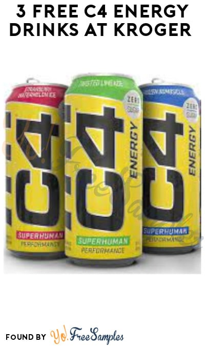 3 FREE C4 Energy Drinks at Kroger (Account/ Coupon & Ibotta Required)