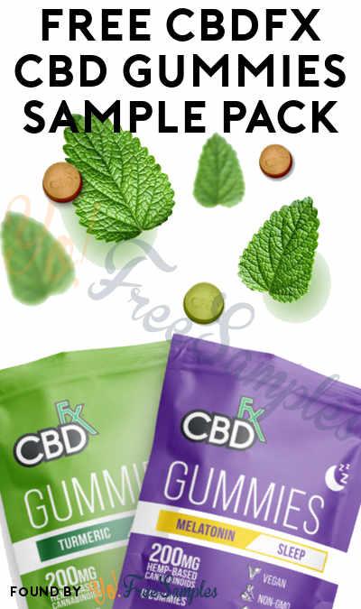 FREE CBDFX CBD Gummies Sample Pack
