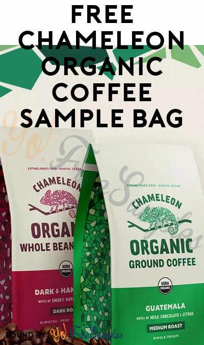 FREE Chameleon Organic Coffee Sample Bag