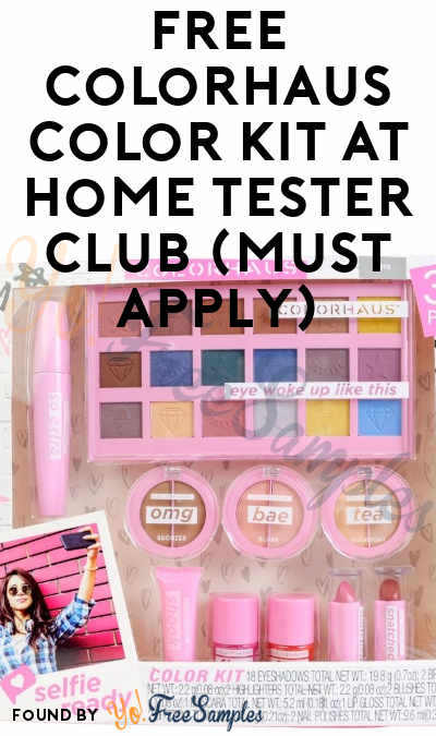 FREE Colorhaus Color Kit At Home Tester Club (Must Apply)