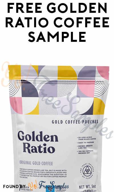 FREE Golden Ratio Coffee Sample