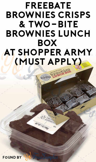 FREEBATE Brownies Crisps & Two-bite Brownies Lunch Box At Shopper Army (Must Apply)