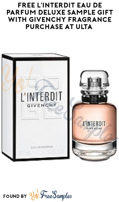 FREE L'Interdit Eau De Parfum Deluxe Sample Gift with Givenchy Fragrance Purchase at Ulta (Online Only)