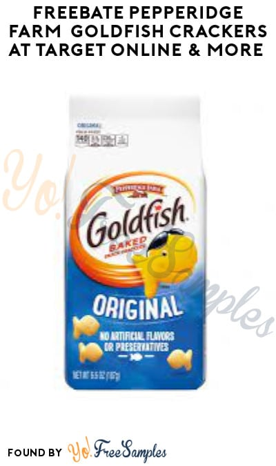 FREEBATE Pepperidge Farm Goldfish Crackers at Target Online & More (Ibotta Required)