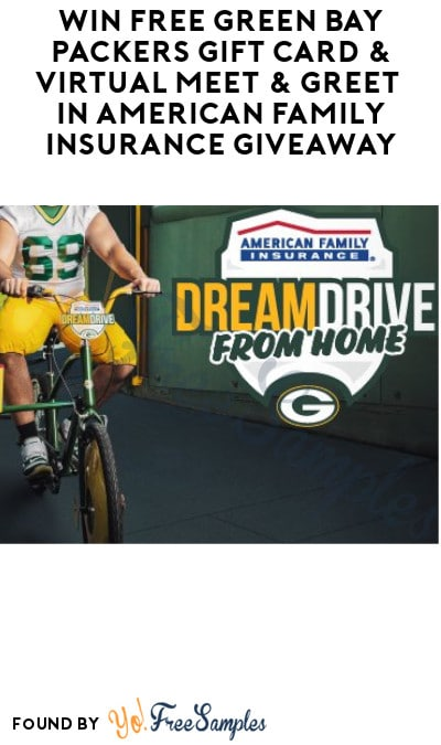 Win FREE Green Bay Packers Gift Card & Virtual Meet & Greet in American Family Insurance Giveaway