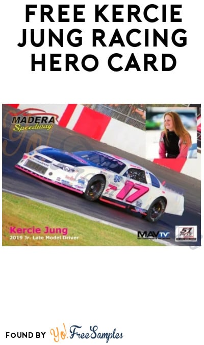 FREE Autographed or Personalized Kercie Jung Racing Hero Card