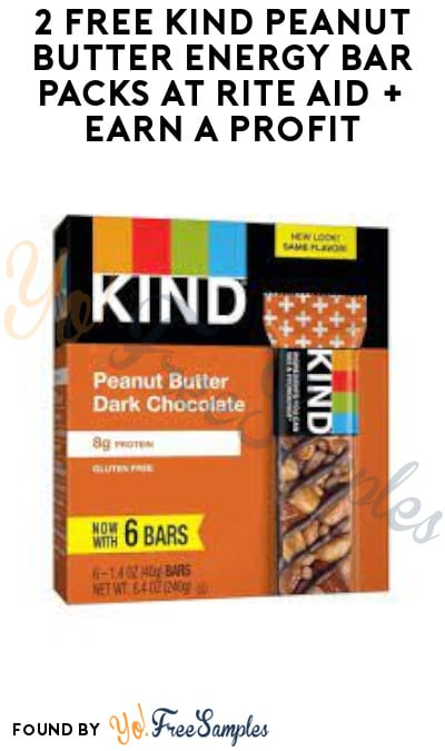 2 FREE KIND Peanut Butter Energy Bar Packs at Rite Aid + Earn A Profit (Wellness+ Gold/ Silver & Ibotta Required)