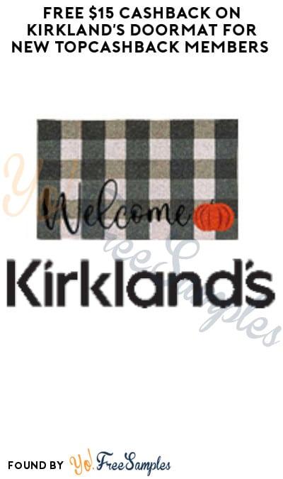 FREE $15 Cashback on Kirkland's Doormat for New TopCashback Members