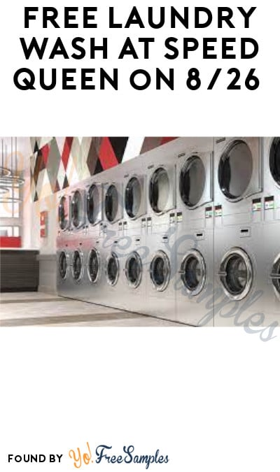 FREE Laundry Wash at Speed Queen on 8/26