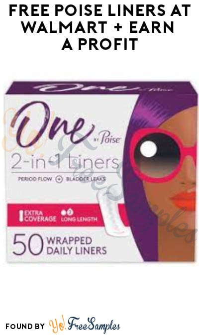 FREE Poise Liners at Walmart + Earn A Profit (Fetch Rewards, Shopkick & Coupon Required)