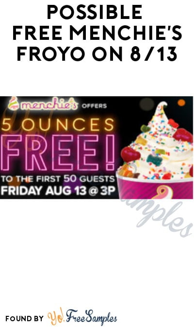 Possible FREE Menchie's Froyo on 8/13