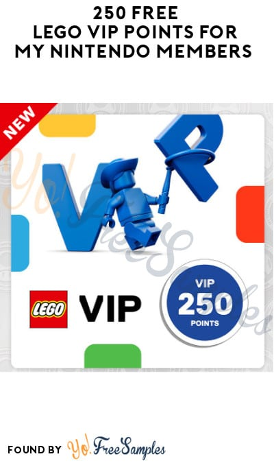 250 FREE LEGO VIP Points for My Nintendo Members