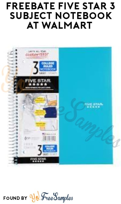 FREEBATE Five Star 3 Subject Notebook at Walmart, Target Online & More (Ibotta Required)