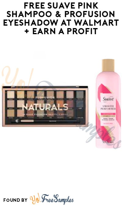 FREE Suave Pink Shampoo & Profusion Eyeshadow at Walmart + Earn A Profit (Shopkick Required)